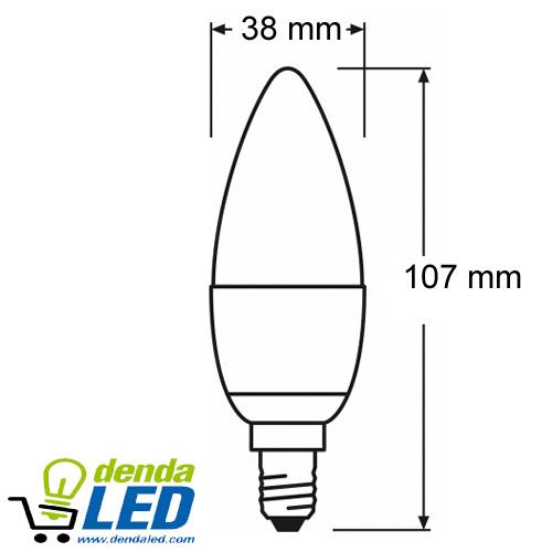 pequeña4w LED Vela E14 pequeña4w Lámpara LED Lámpara Vela E14 Lámpara xCBoder
